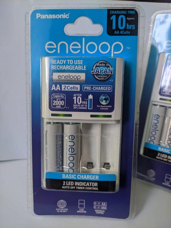 Bộ sạc pin Eneloop K-KJ51MCC20V kèm 2 pin AA 2000mAh