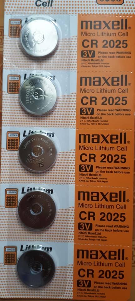 Pin CR2025 Maxell Lithium 3V chính hãng