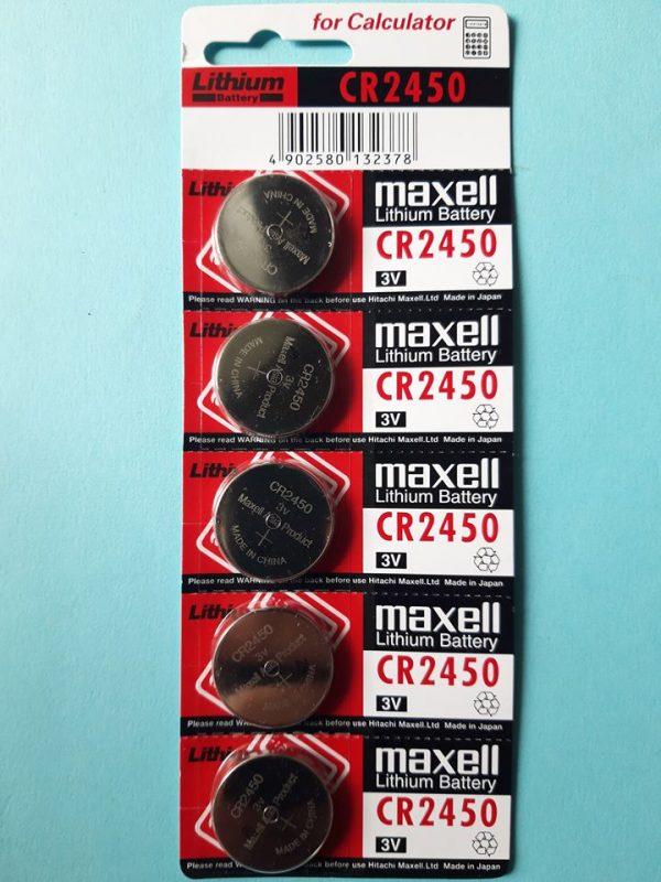 Pin CR2450 Maxell Lithium 3V chính hãng