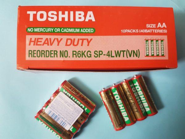 Pin AA Toshiba R6KG Heavy Duty 1.5V chính hãng Đà Nẵng