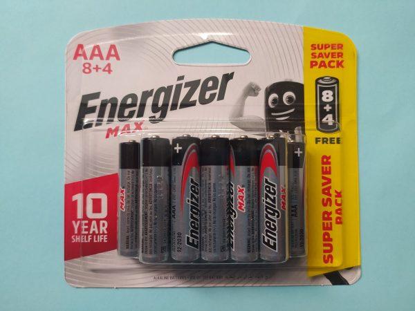 Pin AAA Energizer Max E92 BP8+4 vỉ 12 viên