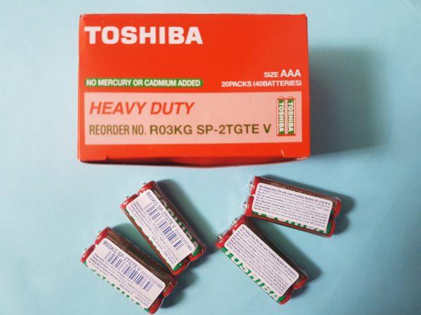 Pin AAA Toshiba R03KG Heavy Duty 1.5V chính hãng Đà Nẵng