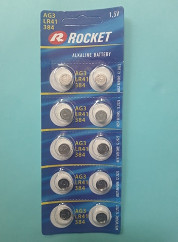 Pin LR41 AG3 Rocket Alkaline 1.5V Đà Nẵng