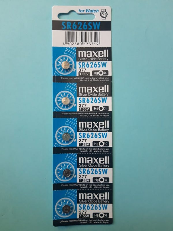 Pin SR626SW Maxell 377 Silver Oxide 1.55V Đà Nẵng