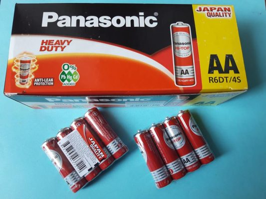 Pin AA Panasonic R6DT/4S chính hãng Đà Nẵng