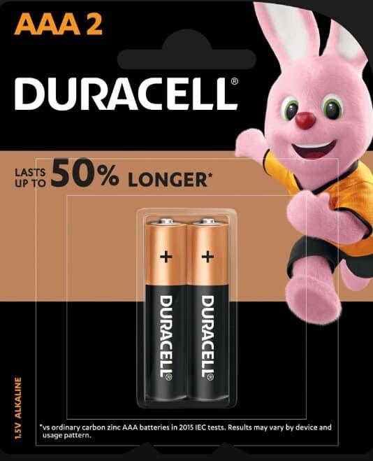 Pin AAA Duracell MN2400 Alkaline 1.5V vỉ 2 viên Đà Nẵng