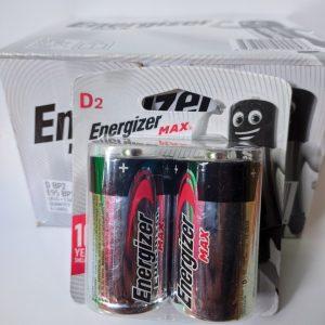 Pin đại Energizer Alkaline Max E95 vỉ 2 viên chính hãng