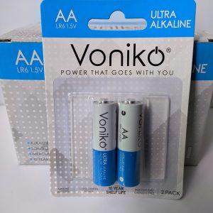 Pin AA Voniko Alkaline LR6 1.5V vỉ 2 viên Đà Nẵng