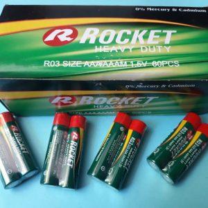 Pin Rocket AAA R03 Heavy Duty 1.5V chính hãng