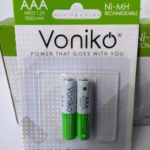 Pin sạc AAA Voniko 1000mAh 1.2V chính hãng Đà Nẵng
